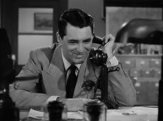 """Cary Grant GIF from director Howard Hawks' """"His Girl Friday""""."""