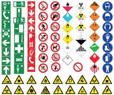 Health and Safety Signs Free Vector