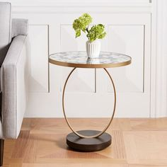 Designed in collaboration with creative firm Roar & Rabbit, the Canon Side Table makes a glam statement in a mix of foxed mirror, antique brass and dark mineral-finished wood. Its sculptural form adds a dose of modern sophistication to living s Side Table Decor, Chair Side Table, Table Decorations, Mirrored Side Tables, White Side Tables, Living Room Tv Unit Designs, Accent Chairs Under 100, Center Table, Modern Table