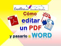 Word a PDF y otras funciones para editar PDF gratis - YouTube Y Words, Virtual Class, Microsoft Excel, Teacher Hacks, New Tricks, Kids Education, School Days, Online Business, Digital Marketing