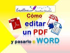 Word a PDF y otras funciones para editar PDF gratis - YouTube