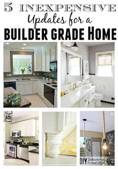 It can be extremely overwhelming trying to update an older home or one that is very builder basic. There's not always money in the budge...