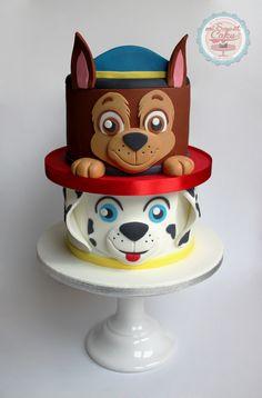 Creative Cake Decorating For A Kid's Birthday Creative Cake Decorating, Birthday Cake Decorating, Cake Decorating Techniques, Creative Cakes, Decorating Ideas, Paw Patrol Birthday Decorations, Paw Patrol Birthday Cake, Paw Patrol Chase Cake, 2nd Birthday Cake Boy