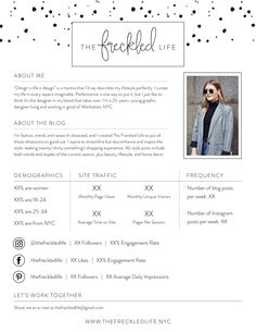 Blog #Media / Press Kit #Template - http://luvly.co/items/5312/Blog ...
