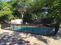 Baby Barrier Port Orange - Backyards in Port Orange are safer now with a new Baby Barrier Pool Fence installed! #PoolSafetyFence #PoolSafety #BabyBarrier
