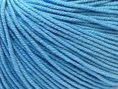 Baby Summer - Light Blue: 8 x 50g/160m, SYW2, 60% Cotton 40% Acrylic Baby Yarn at Anjicat's Rocking Chair