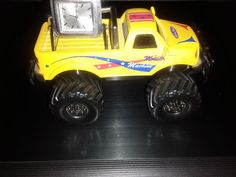Monster Truck Yellow Mini Desk Quartz Clock Very RARE! FREE SHIPPING