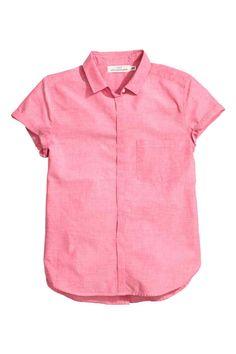 Short-sleeved cotton blouse | H&M