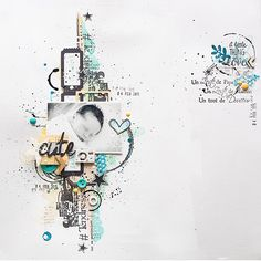"""Une petite page pour Denim tampons. #denimtampons #scrap #scrapbooking #stamp #lescreademaska"""