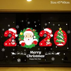 Canada Christmas, Merry Christmas Santa, Merry Christmas And Happy New Year, Christmas Crafts, Christmas Ornaments, Christmas Door, Christmas Snowflakes, Christmas Window Stickers, Happy New Year