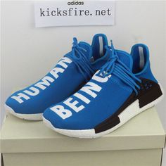low priced 6beb0 719a1 Adidas Pharrell Williams NMD X Human Race Blue BB0618 From Kicksfire.net