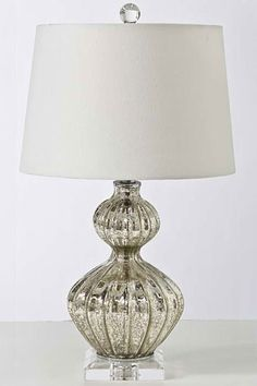 still obsessed with mercury glass lamps, but can't find a size AND ...