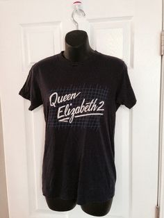 Vintage 1980s Queen Elizabeth 2 cruise ship by thriftyoutfitters