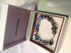 #MyPandora  My 1st Pandora bracelet in blue. Blue is my favorite colour. Every charm has a meaning for me.