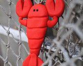 Clay Lobster Ornament. $6.00, via Etsy.
