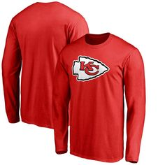 Kansas City Chiefs NFL Pro Line by Fanatics Branded Big & Tall Primary Logo Long Sleeve T-Shirt - Red