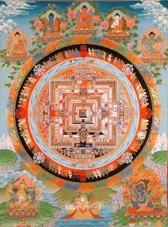 the_kalachakra_mandala_with_the_five_dhyani_buddhas_te50.jpg (482×650)