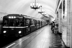 St Petersburg Russia Subway Station by Thomas Marchessault