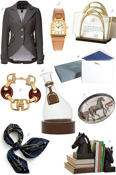 so many things i want: the watch, the horse shoe letter holder & the blazer, to name a few. preppy. dream.