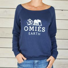 OMIES  Earth with Om Symbol and Elephant  Wide by SuperLoveTees, $40.00