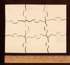Plain Wood Puzzle 8 X 10 9 large pieces A Hand by KeystonePuzzles
