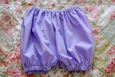 Make your own diaper cover bloomers.  This tutorial shows you how to make them from measurements on your Little one.