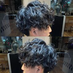 Short Wavy Hair, Curly Hair Men, Curly Hair Styles, Ftm Haircuts, Boy Hairstyles, Hair Inches, Dying My Hair, Aesthetic Hair, Hair Color And Cut