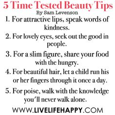 5 Times Tested Beauty Tips