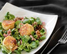 Salade de chèvre chaud aux lardons