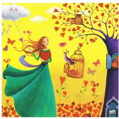 Lulu Shop Carte Mila Marquis Fée et oiseau