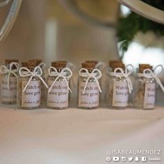"""Wedding favors: """"Watch our love grow"""" flowers seeds."""