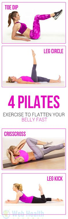 Who wouldn't want to flaunt a flat belly? This desire gets harder to achieve with age because of the hormonal changes. #pilates