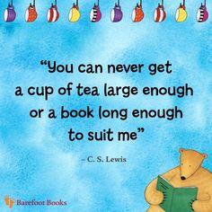 Tea + a Book = LOVE  via Barefoot Books