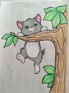 This reminds me of my childhood drawings. Cute Cartoon Drawings, Art Drawings For Kids, Colorful Drawings, Easy Drawings, Pencil Art Drawings, Art Drawings Sketches, Animal Drawings, Oil Pastel Art, Kids Art Class