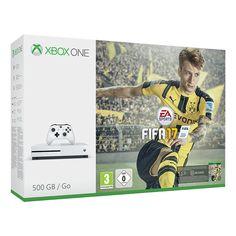 4K Ultra HD – Streame Videos und schaue Blu-Ray™ Filme in atemberaubendem 4K Ultra HD 40% kleiner und mit 500 GB Festplattenkapazität Spiele das beste Spiele-Lineup, inklusive Xbox 360 Klassikern, auf der fortschrittlichsten Xbox überhaupt High Dynamic Range (HDR) – Erlebe kräftigere, leuchtendere Farben in Spielen und Videos FIFA 17 Download-Code, 3 UT Legends + 1 Monat EA Access Inklusive FIFA 17 und exklusiven Inhalten Xbox One S 500GB Konsole & 14-tägige Xbox Live-Gold Mitgliedschaft