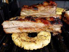 Karibische Barbecue-Rippchen mit Ananas - #BBQ