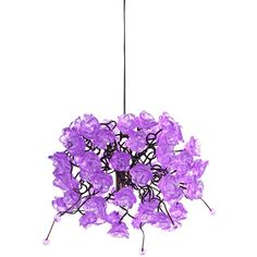 """Universal Lighting and Decor Rosette Collection 10"""" Wide Lilac Rose... ($199) ❤ liked on Polyvore featuring home, lighting, ceiling lights, purple, furniture, chandeliers, purple chandelier, purple lamp, purple lights and energy star lighting"""