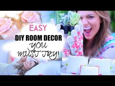 Easy DIY Room Decorations inspired by Tumblr! - YouTube