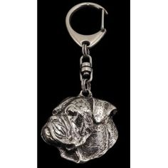 Keyring covered thin layer of silver