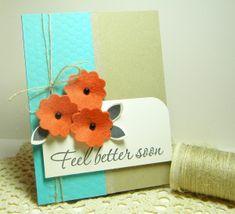 3 Feel Better Soon Handmade Card