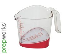 Measure liquids of all kinds with standard or metric measurements with the prepworks Plastic Measuring Cup. The useful tilted measuring surface shows measurements from the top down for easy reading. Kitchen Measuring Tools, Kitchen Tools And Gadgets, Liquid Measuring Cup, Measuring Cups, Top Reads, Camping Needs, Kitchen Necessities, Cupcake Bakery, Baking Set