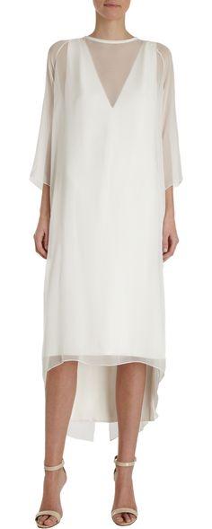 I don't know why, but I really like this.    Juan Carlos Obando Sheer Overlay Dress