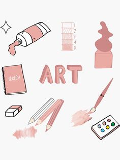 Homemade Stickers, Diy Stickers, Printable Stickers, Preppy Stickers, School Binder Covers, School Book Covers, Journal Stickers, Planner Stickers, Tumblr Sticker