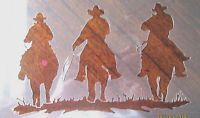 Cowboy's Riding Stencil for Airbrush, Crafting, Art Work, ect.