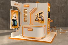 Mobinil 15 years in egypt celebration booth on Behance Exhibition Room, Exhibition Stall, Exhibition Stand Design, Pop Design, Stage Design, Stand Feria, Expo Stand, Showroom Interior Design, Kiosk Design