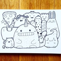 "385 Likes, 16 Comments - Pizza Chimp (@pizzachimp) on Instagram: ""#art #artist #doodle #doodles #instadoodle #draw #drawing #instadraw #illustration #sketch…"""
