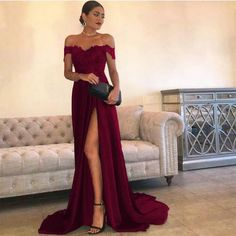 Item:Slit Prom Dresses Occasion:Prom,Evening,Formal,Wedding,Party,Bridesmaids Process Time:10 to 15 days Shipment:Sent via dhl,fedex,aramex
