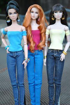 Dolls in Denim  by bellasdolls