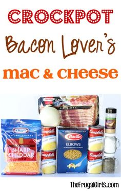 Crockpot Bacon Lovers Macaroni and Cheese Recipe! ~ from https://TheFrugalGirls.com ~ go grab your Slow Cooker and get ready in the ultimate Mac and Cheese comfort food... so Easy to make and SO delicious!! #slowcooker #recipes #thefrugalgirls #crockpot #recipe #easy #slowcooker #recipes