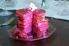 I just had to post this.  Love Pinterest as much as anyone, but this is f'ing ridiculous.    Pink Ombre Pancakes - perfect for girls sleepover breakfast!